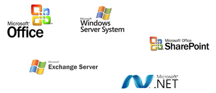 Microsoft Windows Server, Office, SharePoint, Exchange, .NET
